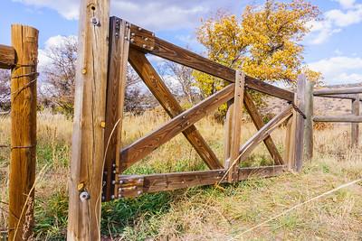 Wooden cross bar gate