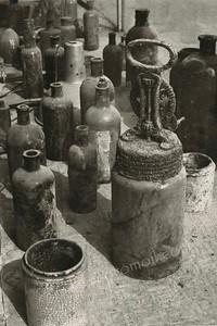 Old Bottles 1981 Gelabrome Print