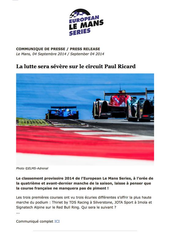 ELMS press release