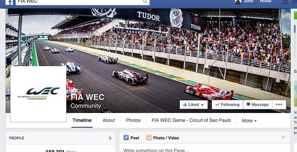 FIA WEC Facebook cover image