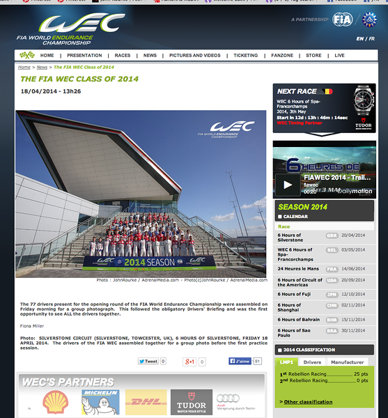 FIA WEC on-line article
