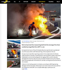 MotorSport.com on-line article