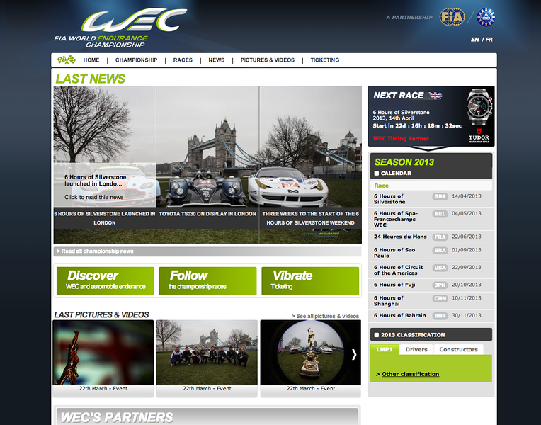 www.fiawec.com front page image
