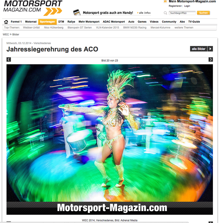 Motorsport magazine on-line article