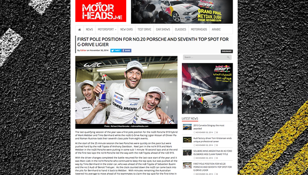 MotorHeads.me on-line article