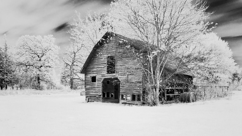 Infrared Barn and Hay Bales
