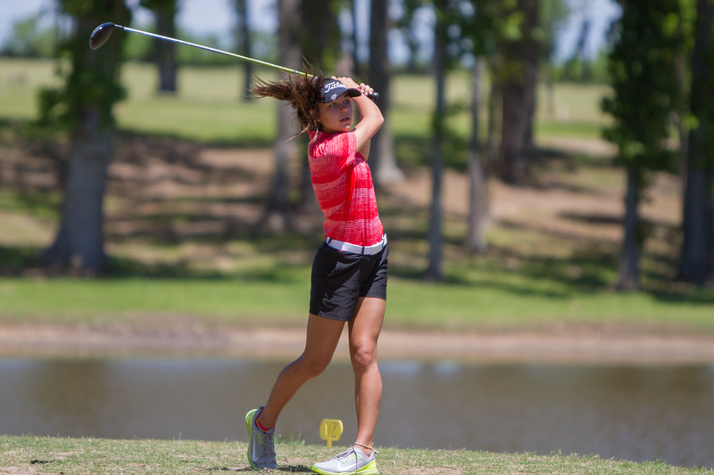 The Lady Eagles Golf Team competes in the District Golf Tournament at Van Zandt Country Club in Canton, Texas, on April 26, 2018. (Lauren Landrum / The Talon News)