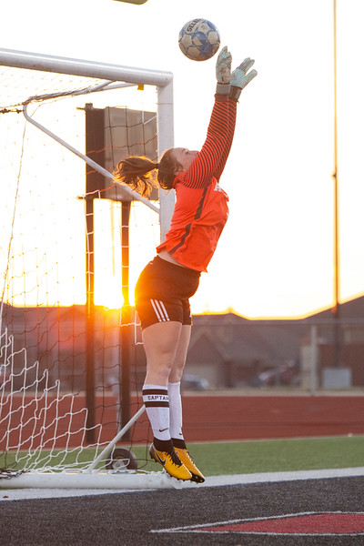 Lady Eagles soccer plays Melissa at Melissa High School in Melissa, Texas, on January 17, 2019. (Andrew Fritz / The Talon News)