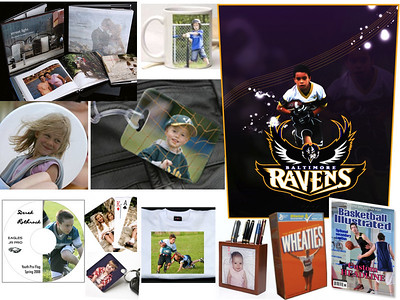 We offer one of the most diverse product lines of any sports photography company.  We offer a wide range of customized photo and video  products to feature your star player - from photo buttons and mugs to Posters and DVD Highlight Videos - and much more!  See our  Catalog page for a complete list of product offerings.