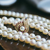 Real wedding pearls and broach