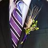 Groom's purple tie, purple ribbon with wheat, Bristol Harbour Resort, Canandaigua, NY