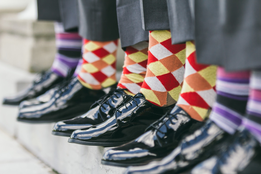 Colorful socks on the groomsman, geneva, NY, White Springs Manor
