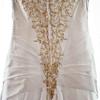 details of the back of wedding dress