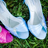 Bridesmaids shoes in the grass