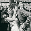 Groom kisses his bride after singing to her at Pearl @ the Webb in Buffalo, NY.
