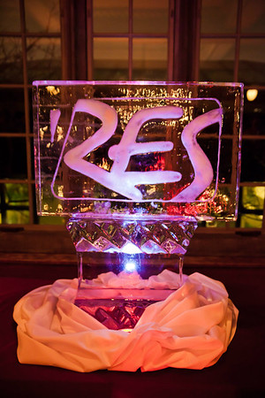Memorial Art Gallery (MAG) ice sculpture for holiday party, RES Exhibit.