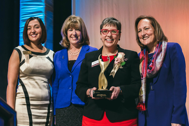 Rochester Riverside Convention Center, MCC President Anne Kress, Athena award winner.