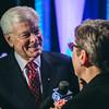 Don Alhart interviewing MCC President Anne Kress, Athena award winner. Rochester Riverside Convention Center.