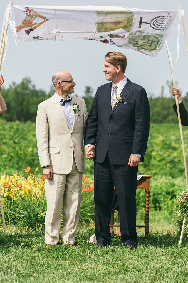 Same sex marriage at Hurd Orchards in Holley, NY.