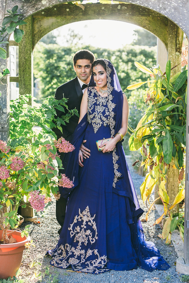 Indian Hindi wedding garden photo in Rhode Island.