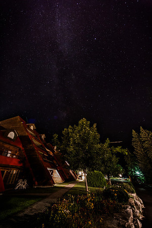Milky Way over Red Roofs- Lake Calabogie