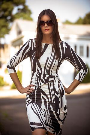 Jess White & Black Dress