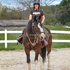 Jodi Fay on Patton during his last ride around the ring.