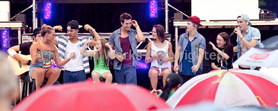 Big Time Rush Plays in Newtown 7-22-13