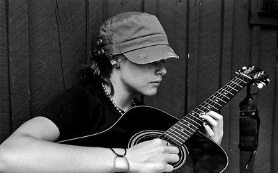 Portrait of a Guitarist (Michelle Grenci)