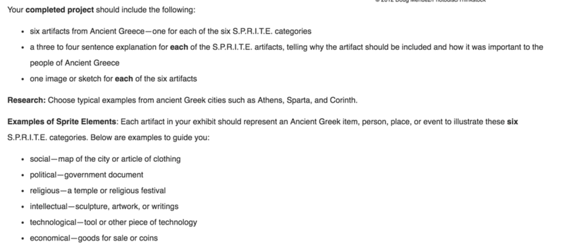 Example FLVS Middle School Assignment