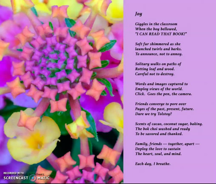 """Click on the image above to view video recording of poem.  To enalrge poem and image, click on """"Expand Screen"""" icon  located in bottom right corner of video frame."""