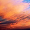 A warm sky