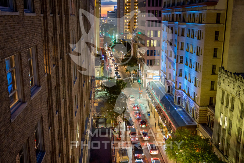 Busy Downtown San Antonio