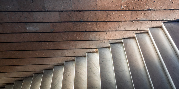 Intersting lines in concrete staircase
