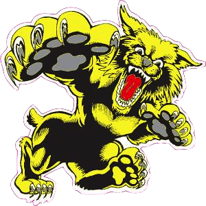plantation wildcats logo cutout