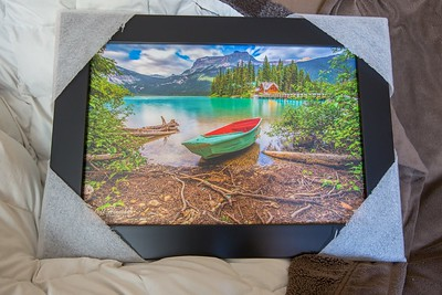 12x18 framed laminated print sample