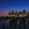 Manhattan as night falls