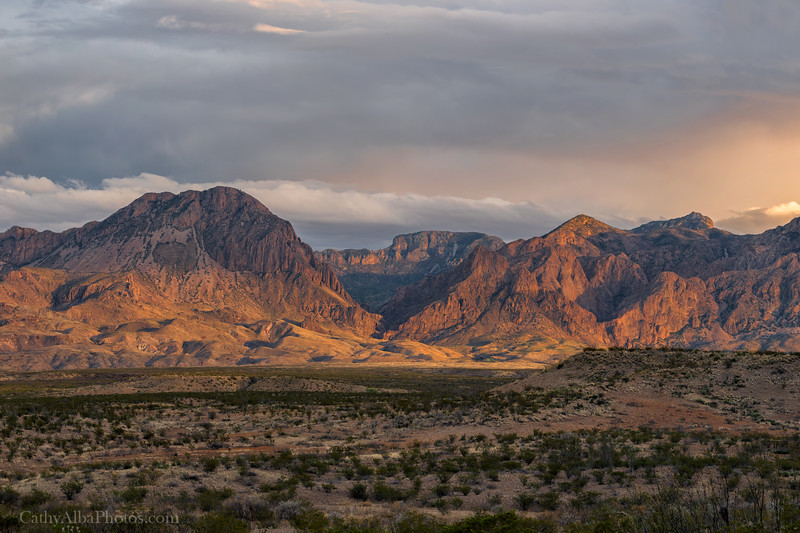 Chisos Mountains at Sunset