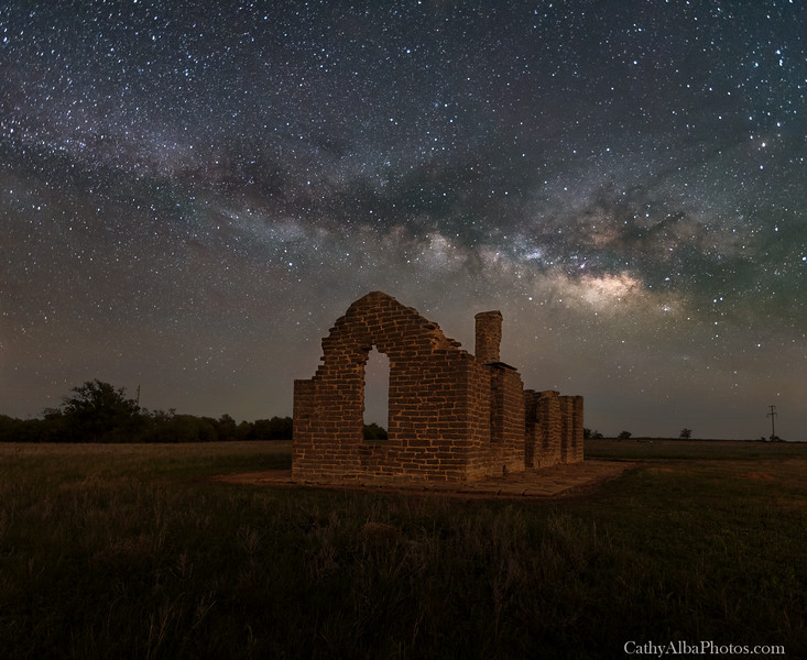 Milky Way Over Fort Griffin