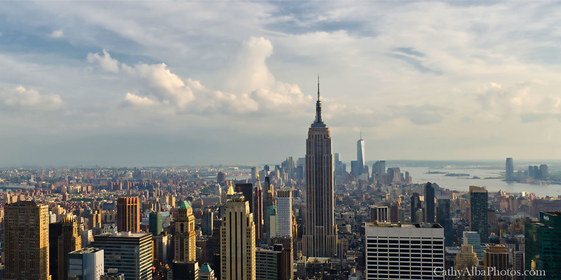 New York City Panoramic w/painterly effect