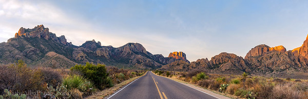 Golden Light on the Chisos Mountains
