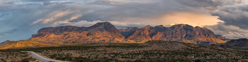 Panorama of The Window in the Chisos Mountains