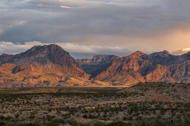 Chisos Mountains at Sunset