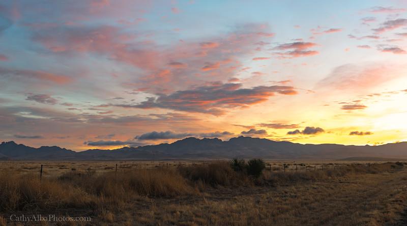 Davis Mountains at Sunrise