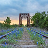 Sunset at the bluebonnet tracks