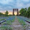 Sunset at the bluebonnet tracks