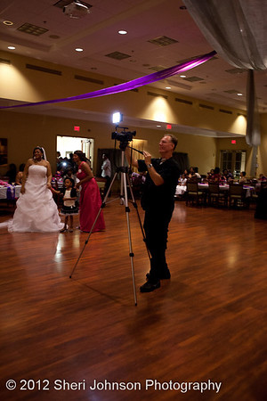 Wedding Videographer Tony Johnson at work at a wedding in Jonesboro, Georgia
