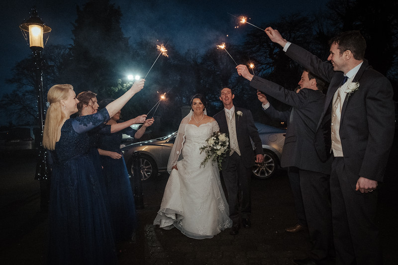 Sparkler entrance #fujilove#moody#springhillhotel#winterweddings