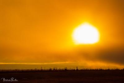 Sunset over Sandfell