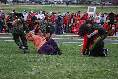 Woman dragged during Myanmar skit in Washington, D.C.